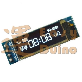 "OLED 128x32 0,91"" display bílý 128 x 32 I2C"